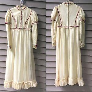 Vintage 70s Victorian maxi dress